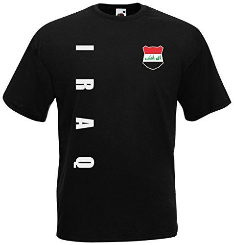 Irak Iraq T-Shirt Trikot Wunschname Wunschnummer (Schwarz, M)