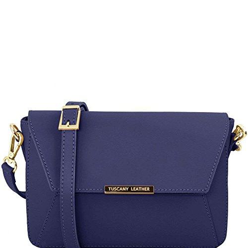 Tuscany Leather - TL Bag - Sac à main en cuir Ruga - Bleu foncé