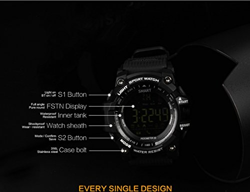 EX16 Smart Watch Pedometer Smartwatch Stopwatch Smart Watch Men CallMessage Reminder For IOS Android Phone