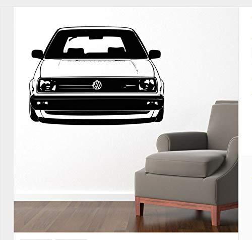 Hohe Qualität 58X80 Cm Vw Golf Auto Aufkleber Schlafzimmer Wandaufkleber Kunst Wohnkultur Vinyl Aufkleber Abnehmbare Wohnzimmer Wand Papier