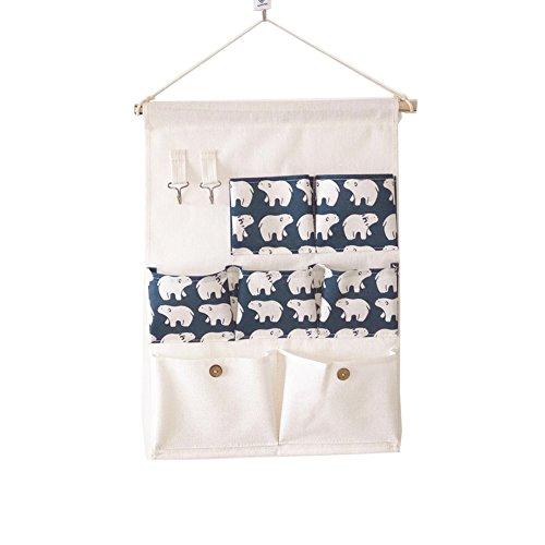 Higawin Wand hängenden Hanging Storage Bag Hängeorganizer/Hängende Tasche/Debris Beutel/ Wand Utensilo,Multifunktionale Hängenden Tasche-Bär