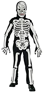 Halloween - Disfraz de Esqueleto completo para niño, aspecto 3D, infantil 8-10 años (883821)