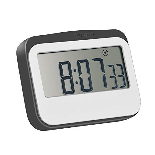 Temporizador Magnético Digital de Cocina/ Temporizador con Gran Pantalla, Temporizador para Hogar, Gris-blanco