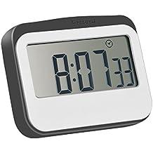 Mudder Magnetico Digitale 24 Ore Contaminuti da Cucina/ Orologio con Schermo Grande, Grigio-bianco