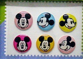 """Apple """"Home"""" Button Sticker for iphone/ipad/itouch,Mickey Series1,Six Stickers"""