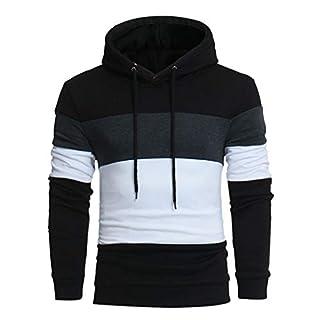 Zottom Hot Männer Langarm-Pullover mit Kapuze Spitzenbluse Outwear