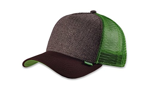 DJINNS - Tweed Combo (brown) - High Fitted Trucker Cap Shield Combo