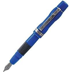 Delta Potencia pluma estilográfica, azul, acero (dh91336)