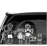 Sorrydenti adesivo famiglia a bordo nomi personalizzato family sticker stickers auto macchina camper (4 personaggio)