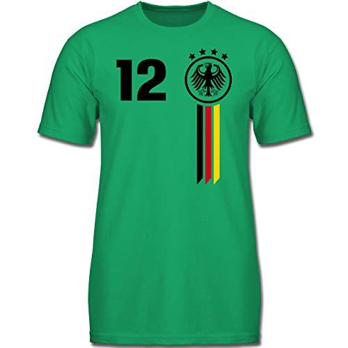 Fußball-Europameisterschaft 2020 Kinder - 12. Mann Deutschland WM - 164 (14/15 Jahre) - Grün - F130K - Kinder Tshirts und T-Shirt für Jungen