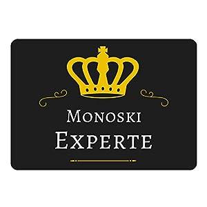 Mousepad Monoski Experte schwarz