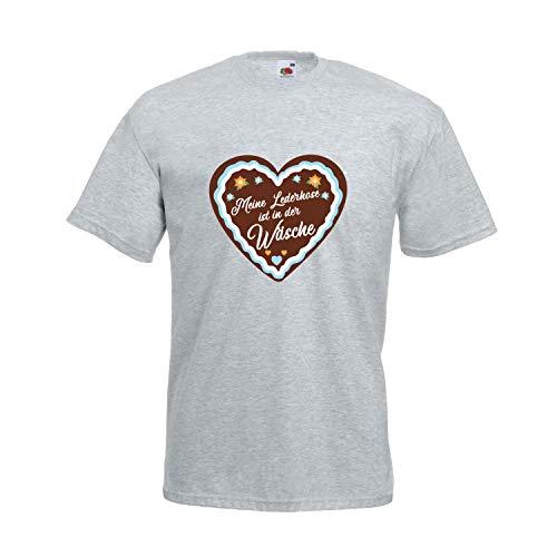 Oktoberfest T-Shirt Herren mit Motiv Lebkuchen - Meine Lederhose ist in der Wäsche - Tracht Männer...