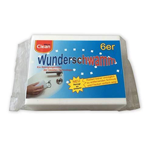 Schmutzradierer Zauberschwamm Für Verschmutzten Wände I Wunderschwamm (6er Set I 12x5x2) + Mikrofasertuch