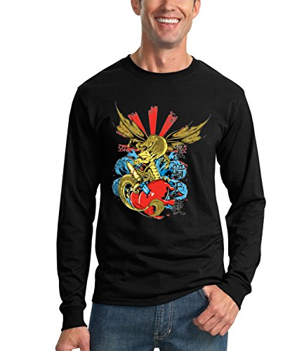 dragon-heart-cool-n-funny-mens-unisex-sweatshirt-noir-small