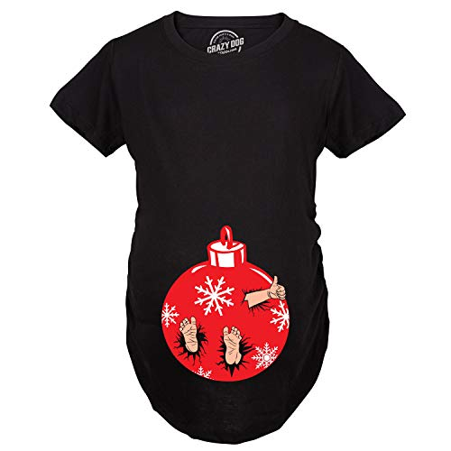 Crazy Dog Tshirts - Maternity Christmas Ornament Baby Pregnancy Tshirt