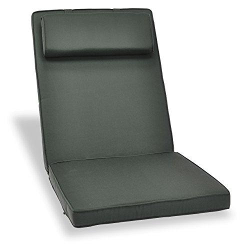 Nexos GL06006 DIVERO hochwertige Sitzauflage Auflage Polster für Hochlehner Gartenstuhl...