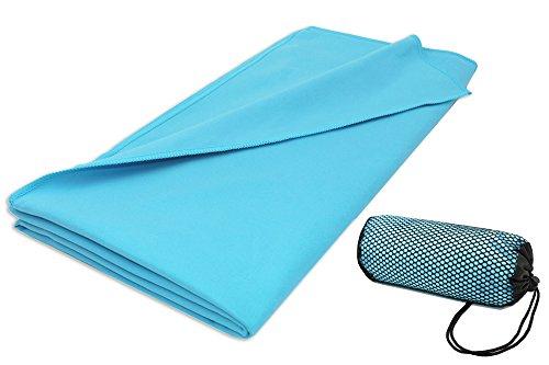 ZOLLNER Asciugamano in Microfibra per Sport, 90x180 cm, Turchese, Altri Colori