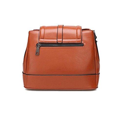 Z&N Qualität Damen Umhängetasche Handtasche Diagonalpaket Multi-Tasche lässig Reisetasche Messenger Kreuztasche Party Hochzeit brown