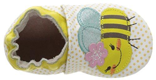 Robeez Bee Z, Chaussures de Naissance Bébé Fille Jaune (Jaune)