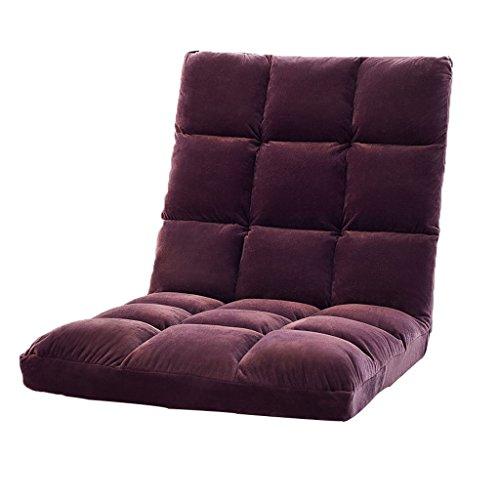 YJLAB Boden Stuhl Faltbare Erker Einzelzimmer Schlafsaal Schlafzimmer Bett Computer Stuhl (Farbe : Purple)