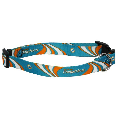 hunter-mfg-miami-dolphins-dog-collar-small-by-nfl