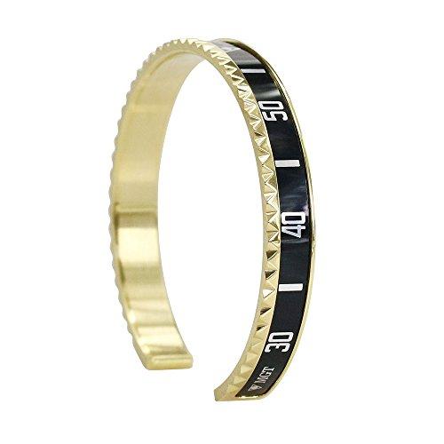 Braccialetto in oro con bracciale stampato gioielli in acciaio al titanio moda orologio, regalo perfetto per il giorno di Natale, il giorno del ringraziamento e il compleanno