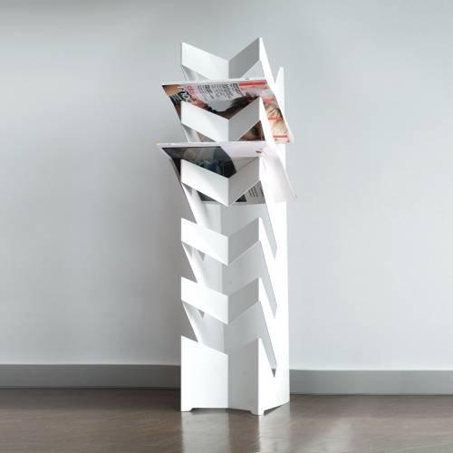 Radius Design - Zeitschriftenhalter - Zeitungshalter - NEWS - Weiß