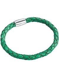 Rafaela Donata Unisex-Armband Edelstahl Leder 60907003