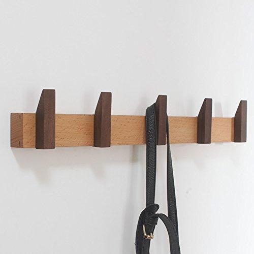 LXLA- Crochet en bois solide de crochet de rangée de support mural de crochet peut être déplacé la rangée accrochante de mur F sans forer sur le mur