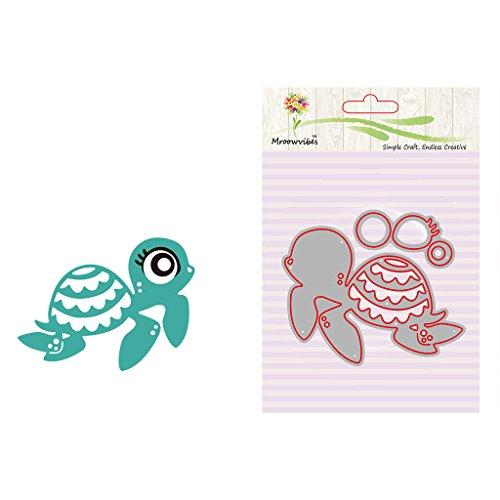Hothap Nette Schildkröte Tier Typ Metall Stanzformen Schablonen Scrapbooking Prägekarte Machen Handwerk Für Kind DIY -