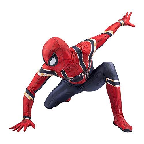 Kind Spiderman Kostüm Halloween Kostümball 3D Digitaldruck Party Cosplay Kostüm,Child-XL ()