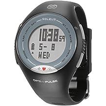 Soleus Pulse - Reloj con monitor de actividad física y salud con monitor de ritmo cardíaco, gris/negro