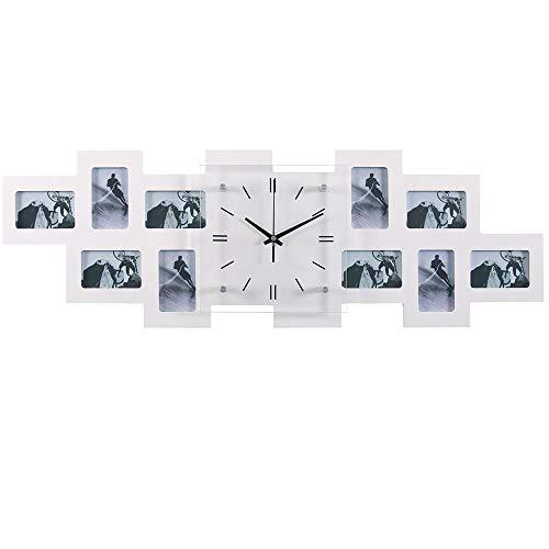 BHP Foto Wand Uhr 10x Bilder Rahmen Wohnraum Glas Ziffernblatt Dekoration Zeit Anzeige B991743-3