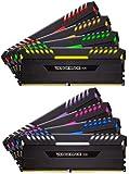 Corsair Vengeance RGB 128GB (8 x 16GB) DDR4 3800MHz C19 XMP 2.0 Enthusiast RGB LED-Beleuchtung Speicherkit, schwarz