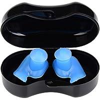 VGEBY1 1 par de Tapones para los oídos, Tapones para los oídos de Silicona Anti-Ruido Tapones para los oídos a Prueba de Agua para Nadar Buceo Dormir Trabajar Bañarse(#2)