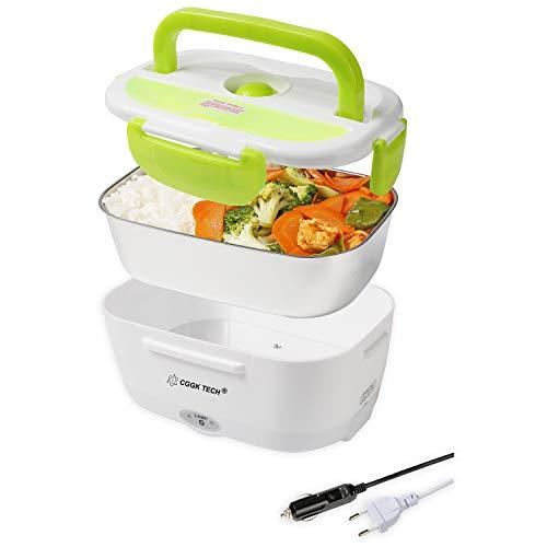 CGGK TECH Boîte Chauffante Hermétique Gamelle Lunch Box Électrique 12V 220V Qualité Alimentaire...