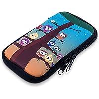 """kwmobile Housse pour téléphone en néoprène sleeve pour smartphones M - 5,5"""" - Sacoche pour smartphone housse de protection étui pour Design chouettes arbre - p.e. compatible avec Samsung, Apple, Wiko, Huawei"""