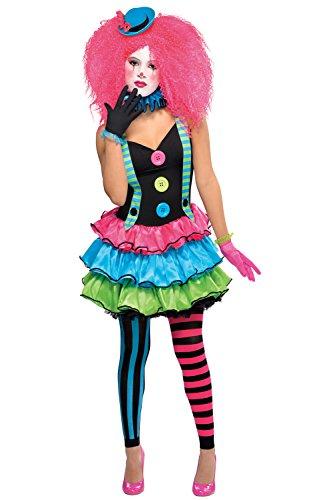 Mädchen Cool Clown Kostüm Kostüm Teen Kind & ohne Fuß, Fancy Kleid