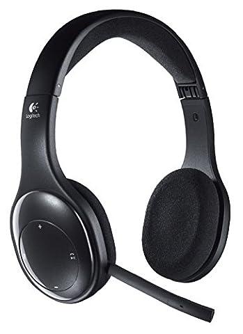 Logitech Wireless Headset H800 Micro-casque sans-fil rechargeable à filtrage de bruit Noir
