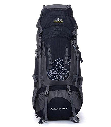 BM All'aperto alpinismo borsa tende di campeggio di 75L grande capacità zaino viaggio escursionismo per uomini e donne , yellow Black