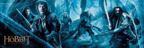Empire merchandising 634 900 Lo Hobbit Banner Smaug Fantasy Door dimensione Poster poster 158 x 53 cm