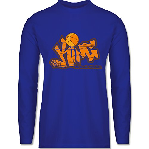 Shirtracer Basketball - Basketball King - Herren Langarmshirt Royalblau