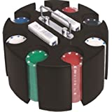 Presentador giratorio, 2 barajas y 200 fichas Poker (4,5 gramos)