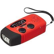 OUTERDO Mini Tragbar Solar Ladegerät Radio Solarradio Mit Helle LED Taschenlampe Dynamo Radio AM / FM / WB Handy Notfall Powerbank