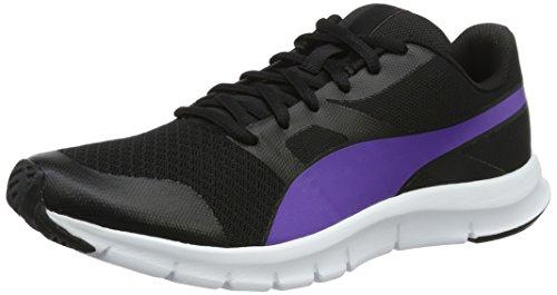 Puma Unisex-Erwachsene Flexracer Low-Top, 41 EU Schwarz (Puma Black-Electric Purple 25)