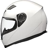 Shox Casque de moto solide Blanc Blanc brillant moyen