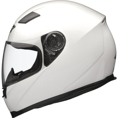 Shox Sniper Solid Motorrad Helm M Glänzende Weiß