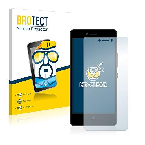 BROTECT Schutzfolie kompatibel mit BQ Aquaris U Lite [2er Pack] - kristall-klare Displayschutz-Folie, Anti-Fingerprint