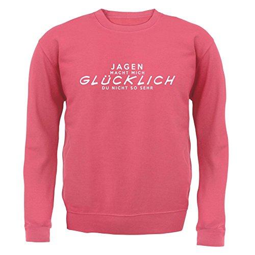 Jagen macht mich glücklich - Unisex Pullover/Sweatshirt - 8 Farben Rosa