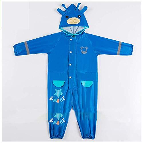 Guyuan Kinder siamesische Regen Stiefel Jungen und Mädchen Kindergarten Sets Kinder Student Ganzkörper wasserdicht Baby Poncho Cartoon (Color : Blue, Size : L) (Regen Stiefel Burberry)